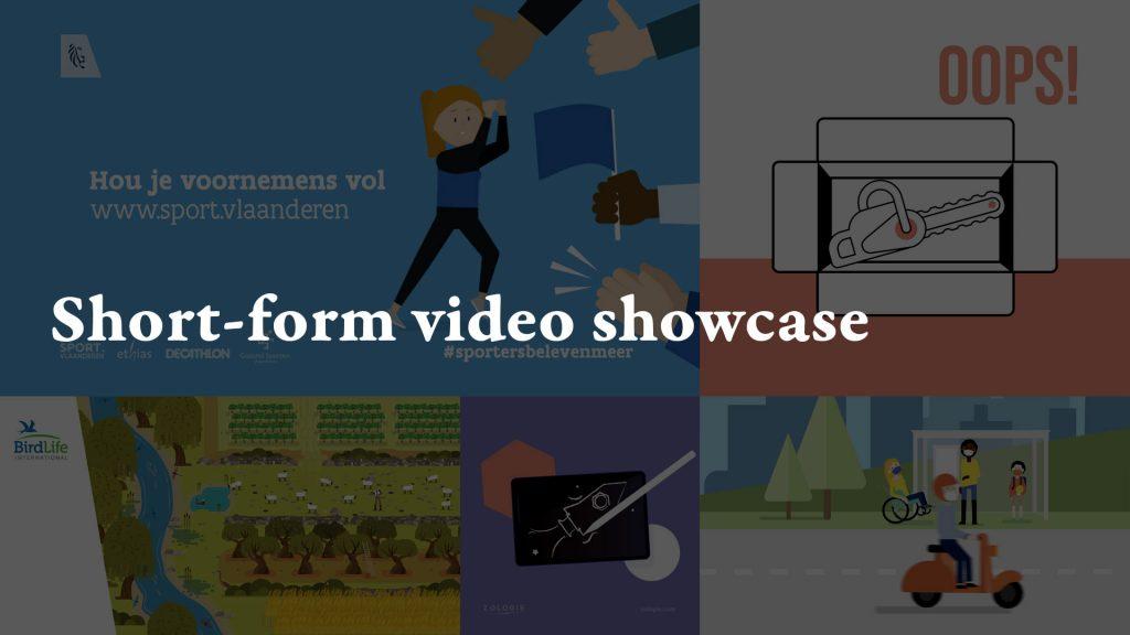 Short-form video showcase