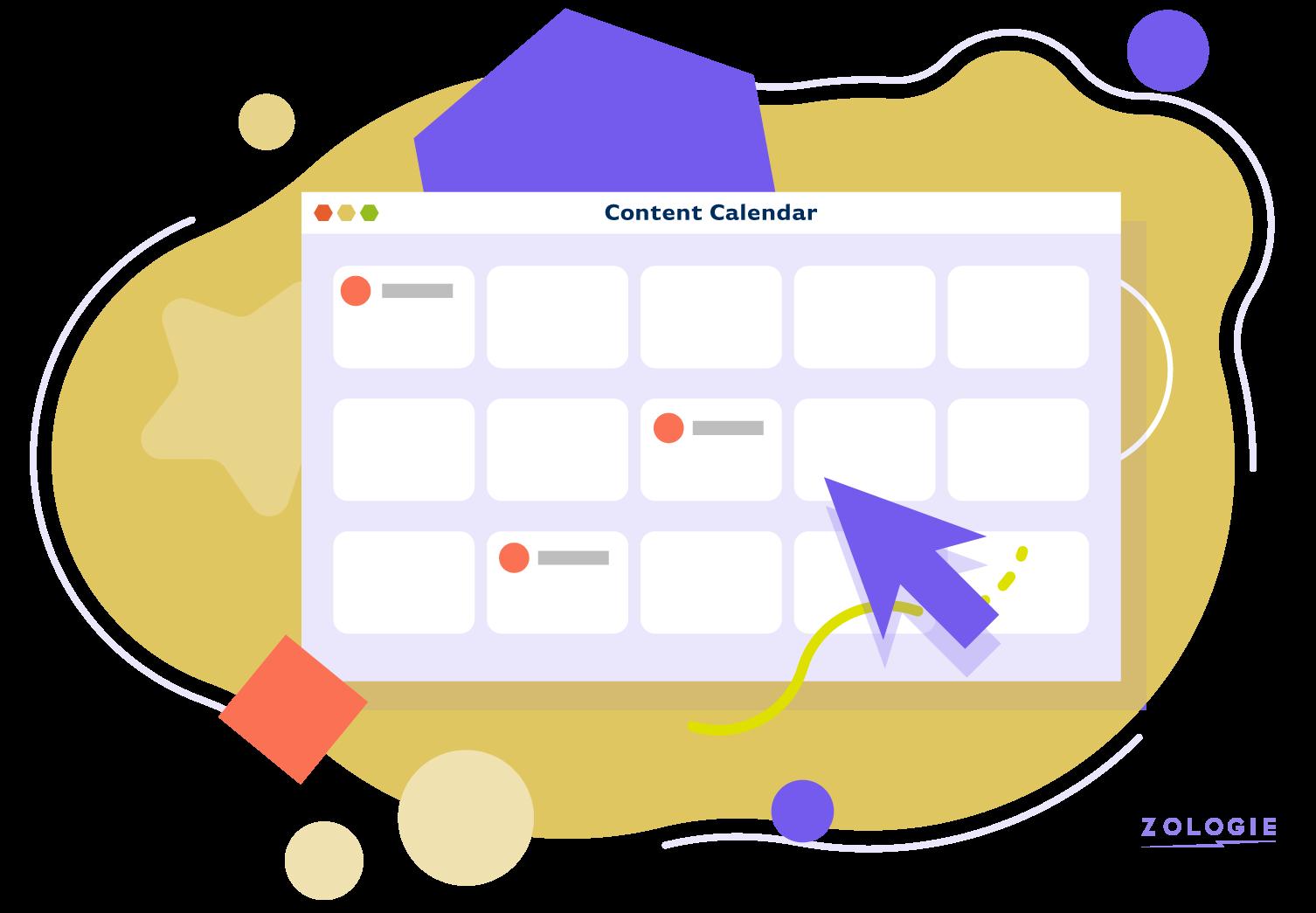 Social Media Animation Content Calendar